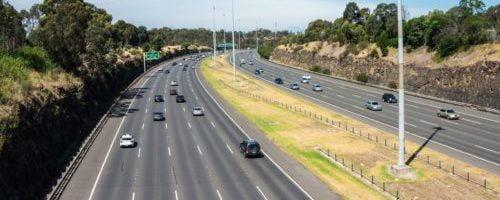 Vehicles on Sydney to Brisbane interstate highway